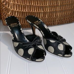Moschino Cheap And Chic Polka Dot With Bow Heels